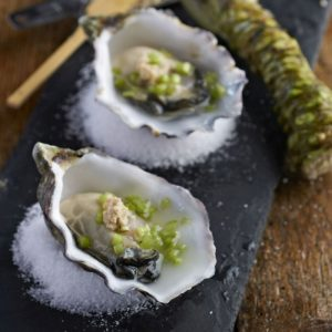 Crab House Cafe - Our Portland Oysters garnished with Dorset wasabi.